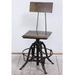 インダストリアルチェア|鉄脚回転椅子