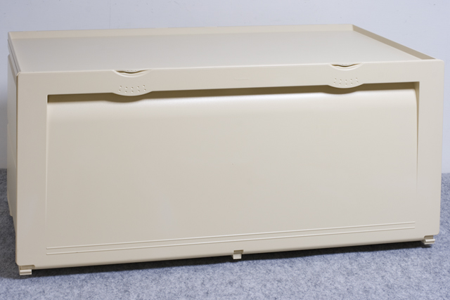Tupperware:タッパーウェアの浅型引き出し2段タイプ収納「スーパーチェスト・ワイド」-04