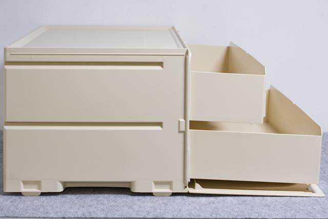Tupperware:タッパーウェアの浅型引き出し2段タイプ収納「スーパーチェスト・ワイド」-07