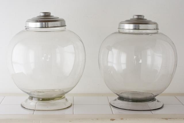 アンティークな古いガラス地球瓶-01