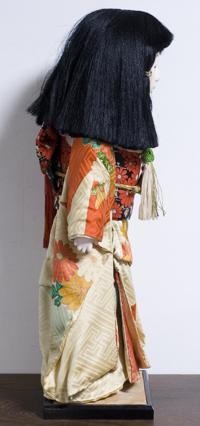 古い市松人形「銘:松風」-04