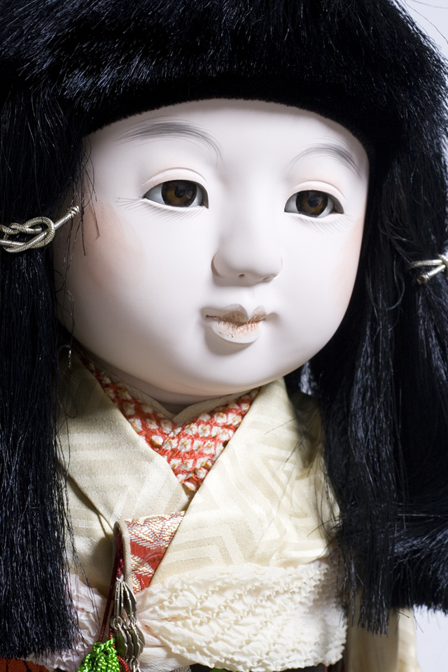 古い市松人形「銘:松風」-05