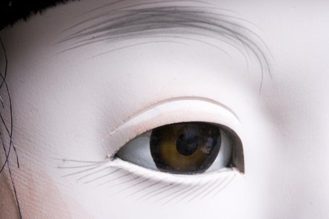 古い市松人形「銘:松風」-07