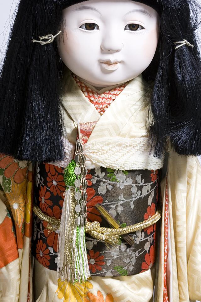 古い市松人形「銘:松風」-08