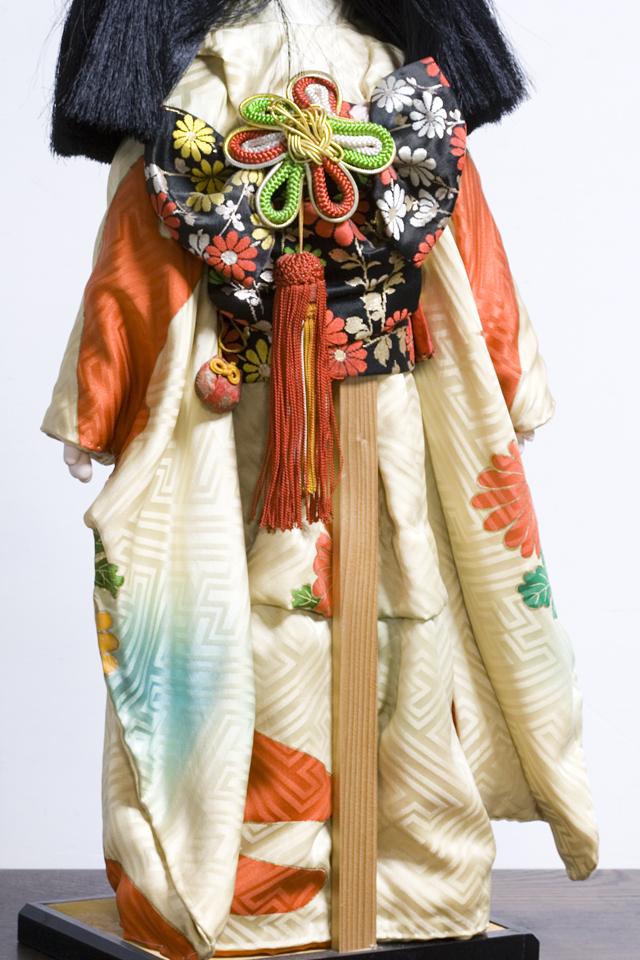 古い市松人形「銘:松風」-11