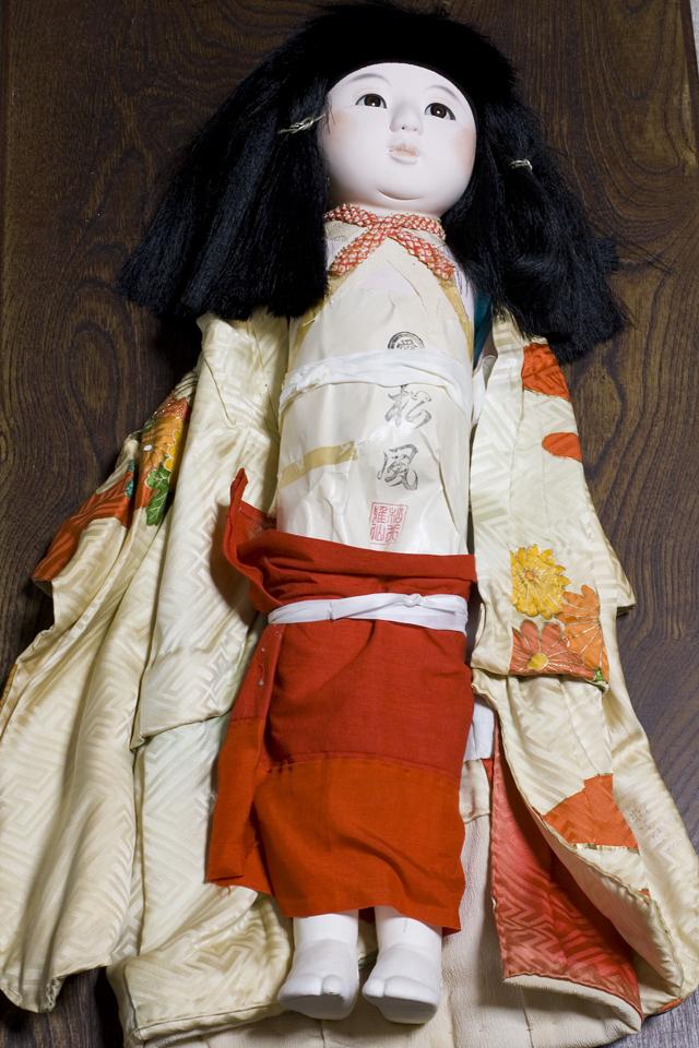古い市松人形「銘:松風」-15