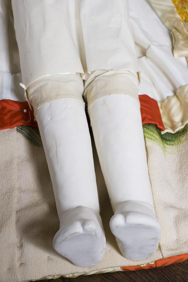 古い市松人形「銘:松風」-20