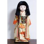 古い市松人形「銘:松風」