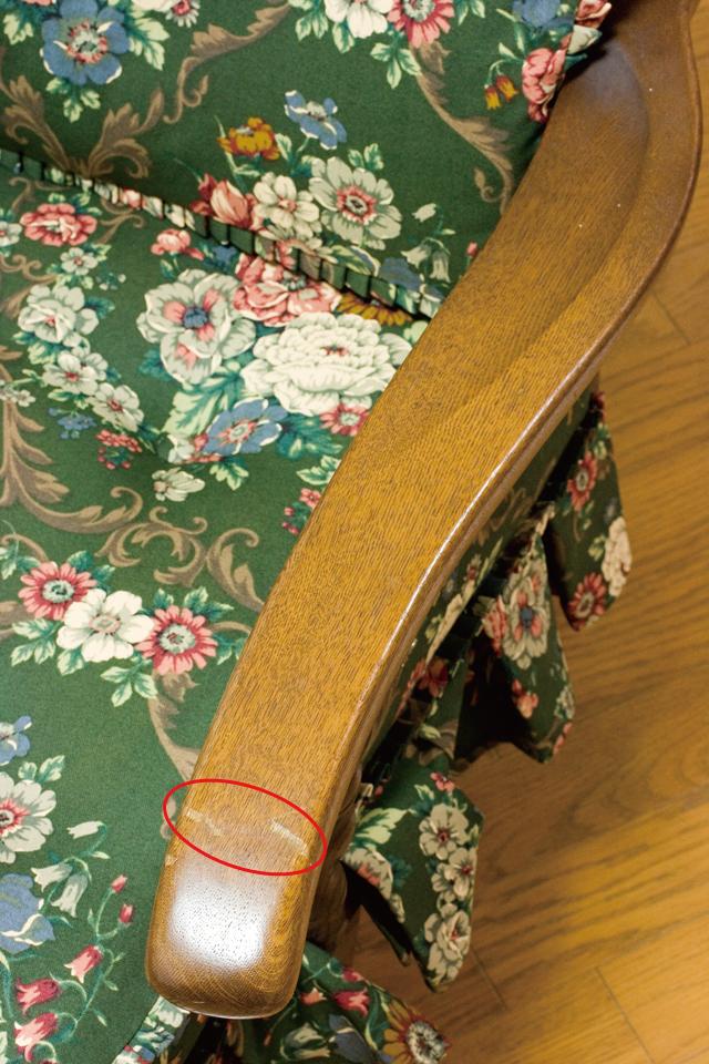 キツツキマークの飛騨産業「穂高」シリーズの1人掛けソファ「両肘付きチェア:No6A」2脚セット-07