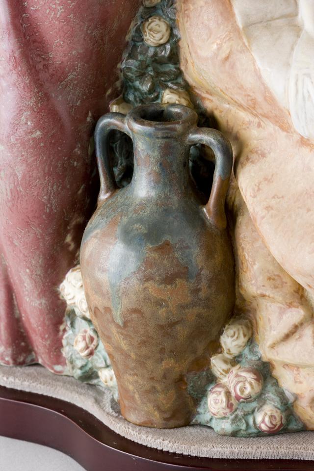 LLADRO:リヤドロの陶磁器人形:大型フィギュリン「12070|COIFFERE:コフレ|髪をすく姉妹」-34