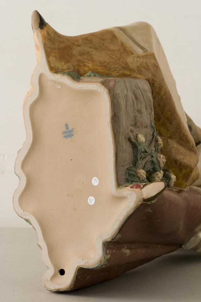 LLADRO:リヤドロの陶磁器人形:大型フィギュリン「12070|COIFFERE:コフレ|髪をすく姉妹」-35
