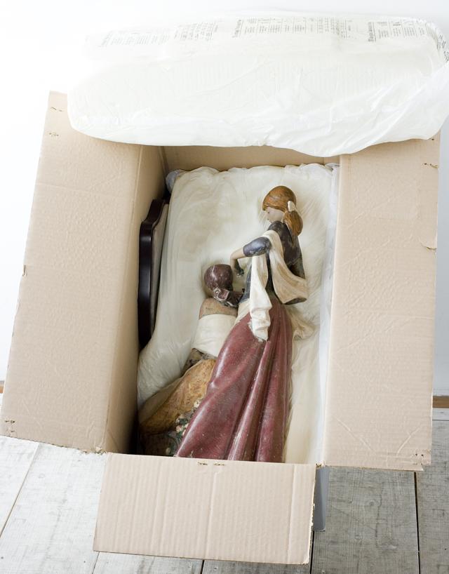 LLADRO:リヤドロの陶磁器人形:大型フィギュリン「12070|COIFFERE:コフレ|髪をすく姉妹」-41