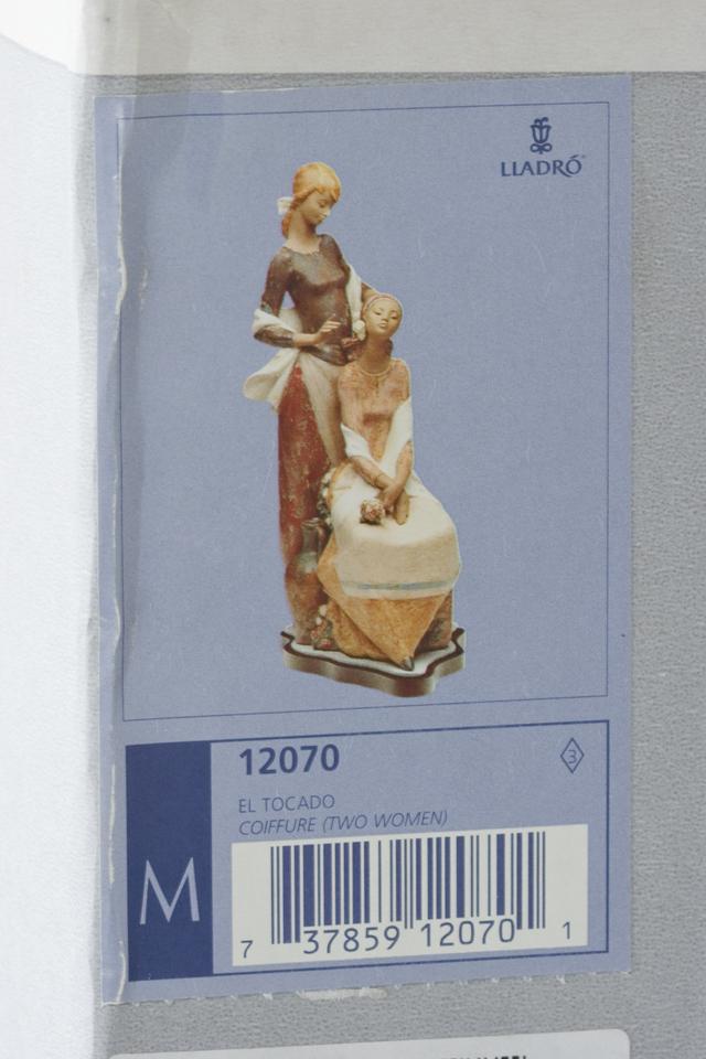LLADRO:リヤドロの陶磁器人形:大型フィギュリン「12070|COIFFERE:コフレ|髪をすく姉妹」-44
