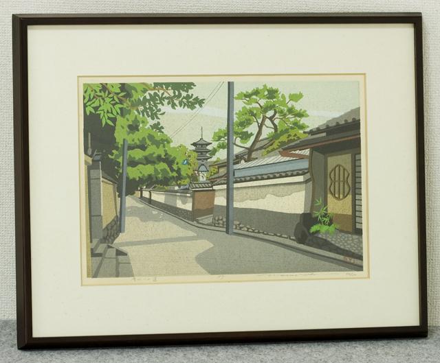 木版画家「井堂雅夫|Masao Ido」作品「清水への道」-01