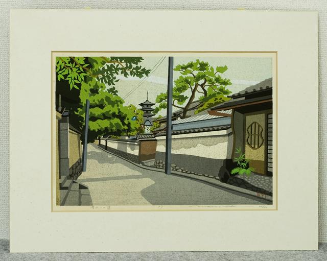 木版画家「井堂雅夫|Masao Ido」作品「清水への道」-02