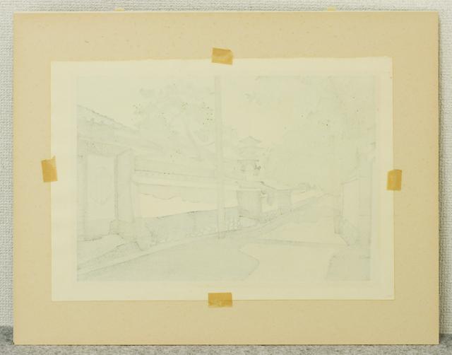 木版画家「井堂雅夫|Masao Ido」作品「清水への道」-03
