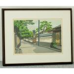 木版画家「井堂雅夫|Masao Ido」作品「清水への道」