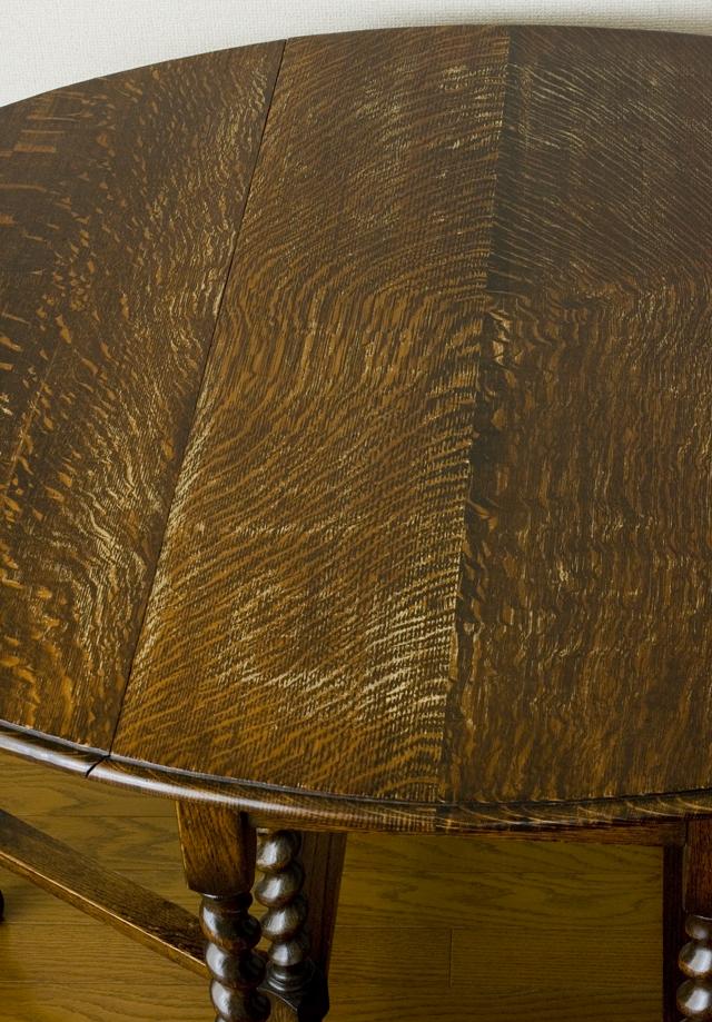 イギリスアンティーク、ツイストレッグの「バタフライテーブル」-08