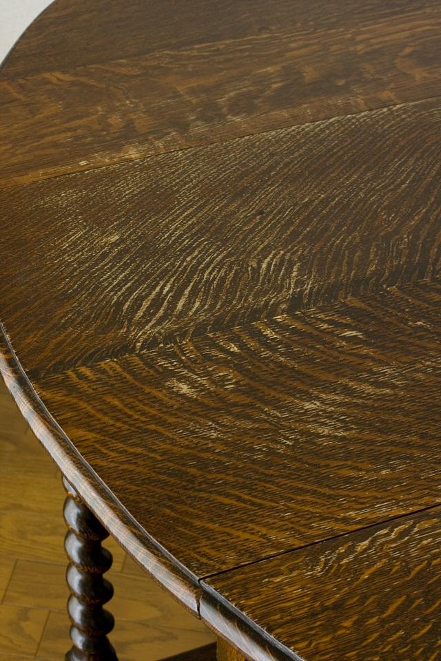 イギリスアンティーク、ツイストレッグの「バタフライテーブル」-09