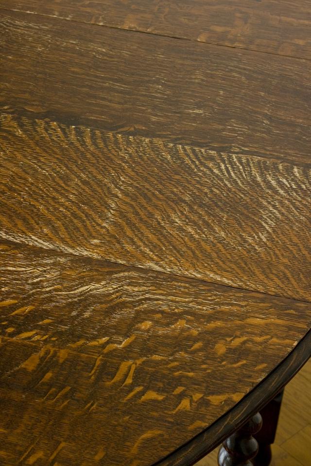 イギリスアンティーク、ツイストレッグの「バタフライテーブル」-11