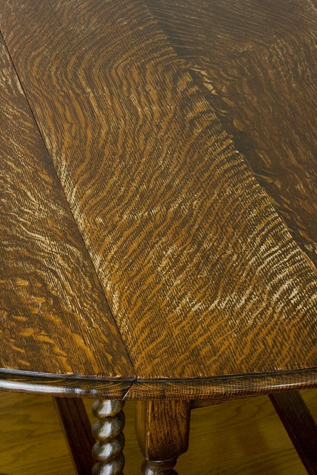 イギリスアンティーク、ツイストレッグの「バタフライテーブル」-12