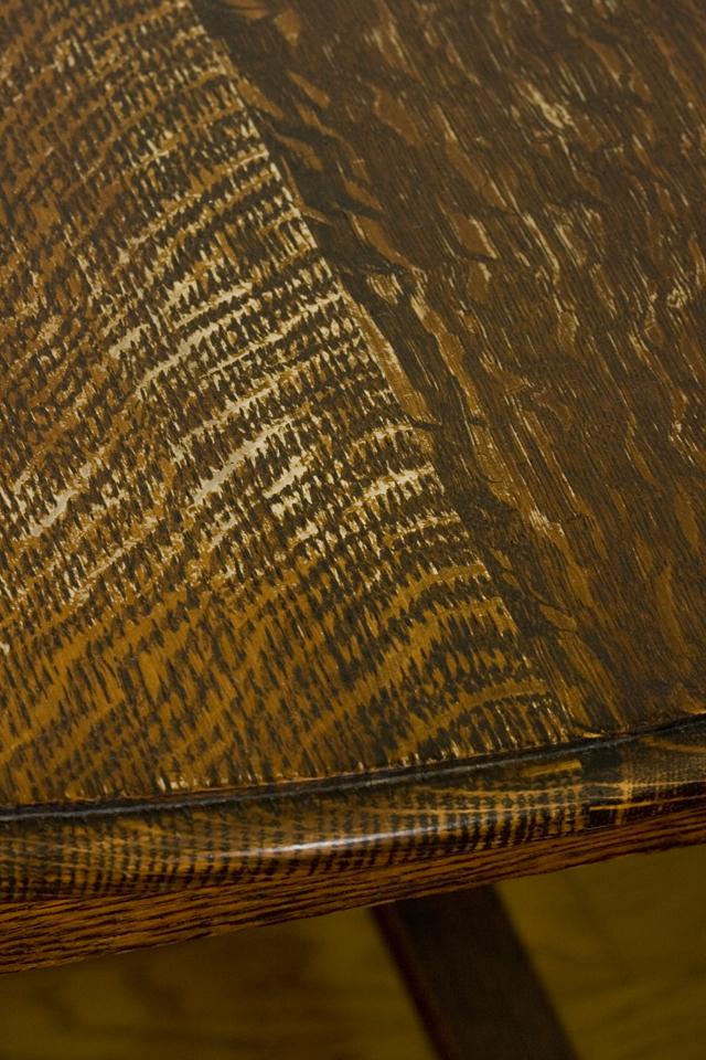 イギリスアンティーク、ツイストレッグの「バタフライテーブル」-13