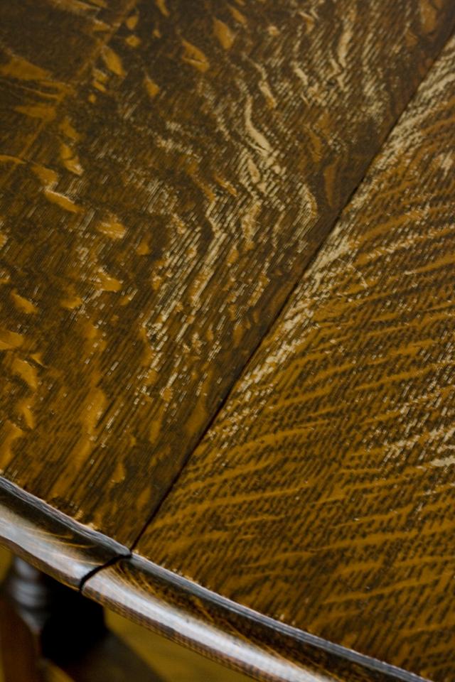 イギリスアンティーク、ツイストレッグの「バタフライテーブル」-14