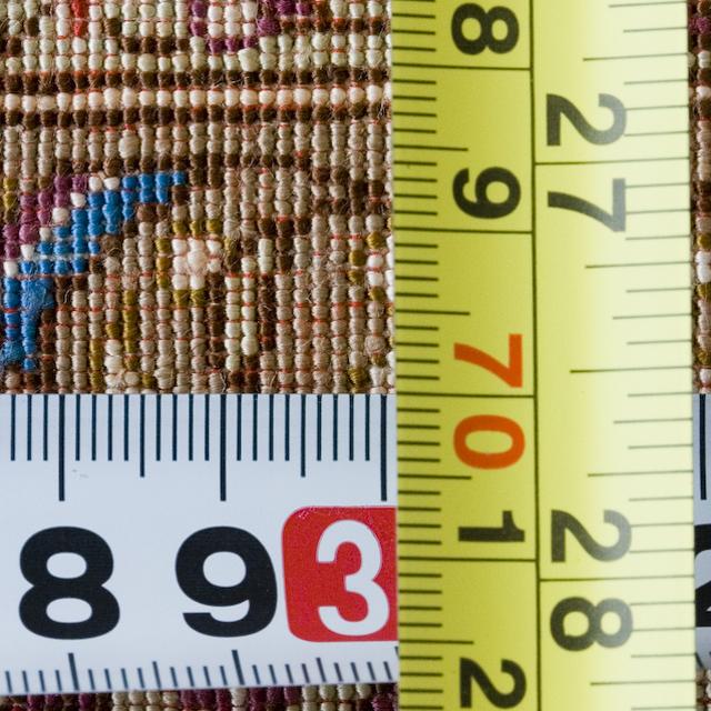 「10ノット/1cm」ピンク系高級ペルシャ絨毯-16