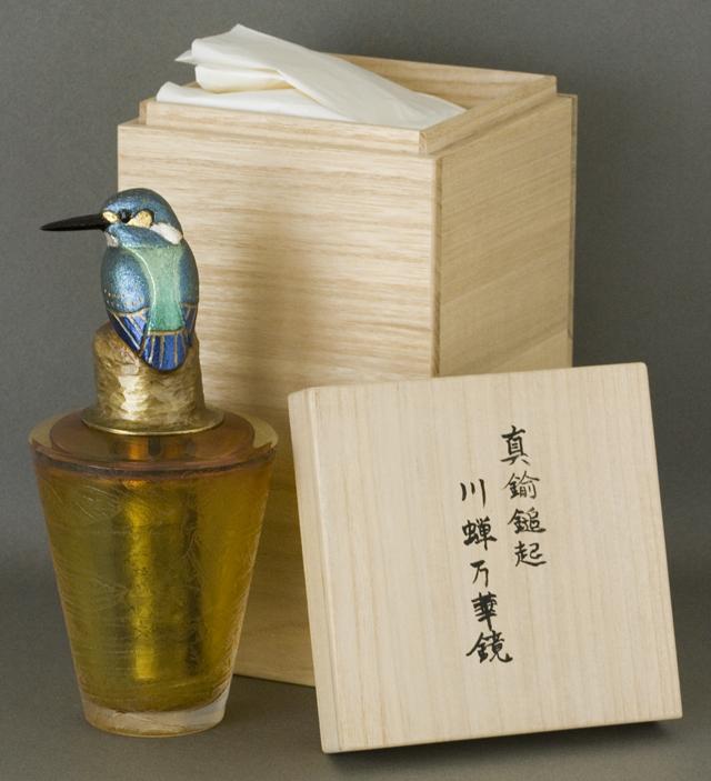 鍛金|金属造形作家「関井一夫|Kazuo Sekii」作「真鍮鎚起|川蝉万華鏡」-01