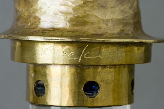 鍛金|金属造形作家「関井一夫|Kazuo Sekii」作「真鍮鎚起|川蝉万華鏡」-13