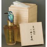 鍛金|金属造形作家「関井一夫|Kazuo Sekii」作「真鍮鎚起|川蝉万華鏡」