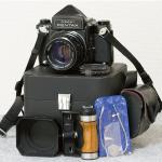 中判フィルムカメラ「ASAHI PENTAX 67:ペンタックス」TAKUMAR:タクマーレンズ105MM/1:2.4付