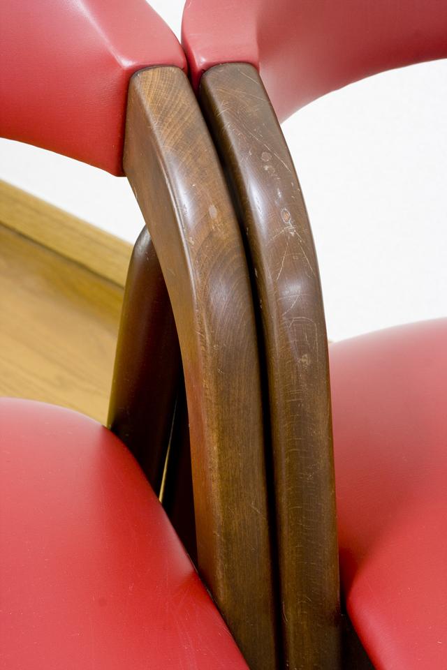 「TSUJI:辻木工」のヴィンテージチェア2脚セット-11