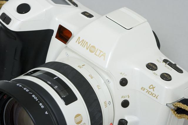 MINOLTA:ミノルタのフィルム一眼レフカメラ、ミール搭載記念限定ホワイトモデル「α8700i」-02