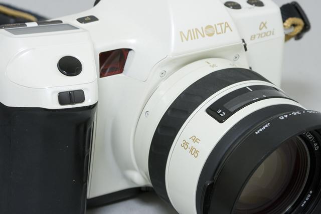 MINOLTA:ミノルタのフィルム一眼レフカメラ、ミール搭載記念限定ホワイトモデル「α8700i」-03