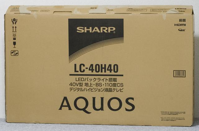 SHARP:シャープの40V型液晶テレビ:TV、AQUOS:アクオス「LC-40H40」-10