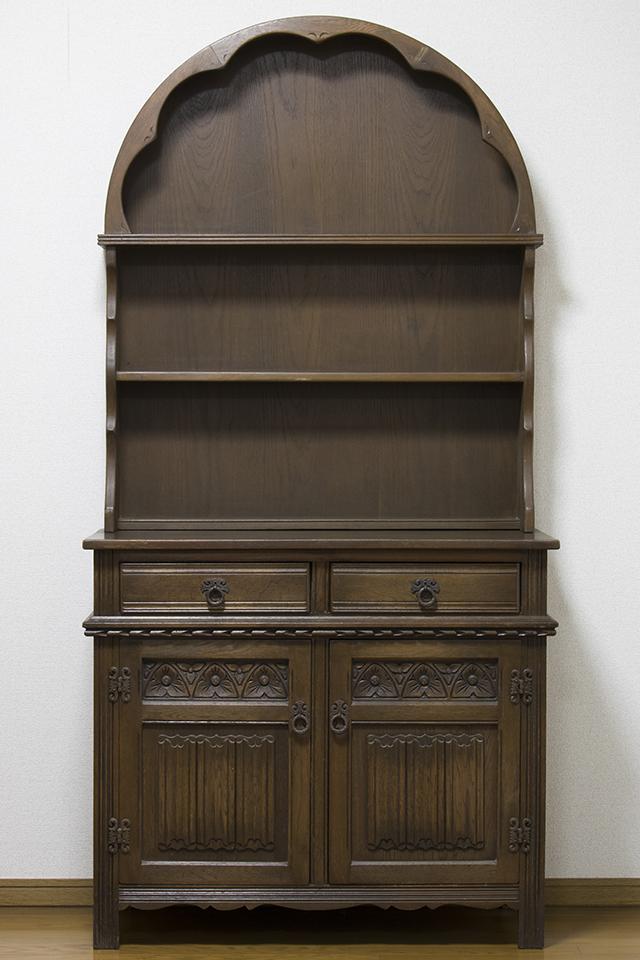 イギリスアンティーク|英国家具「Old Charm Furniture:オールドチャーム社」のオーク材カップボード-01